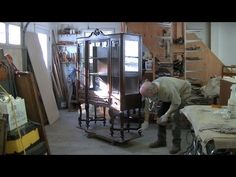 Repairing a China Cabinet's Broken Leg Assembly - Thomas Johnson Antique Furniture Restoration