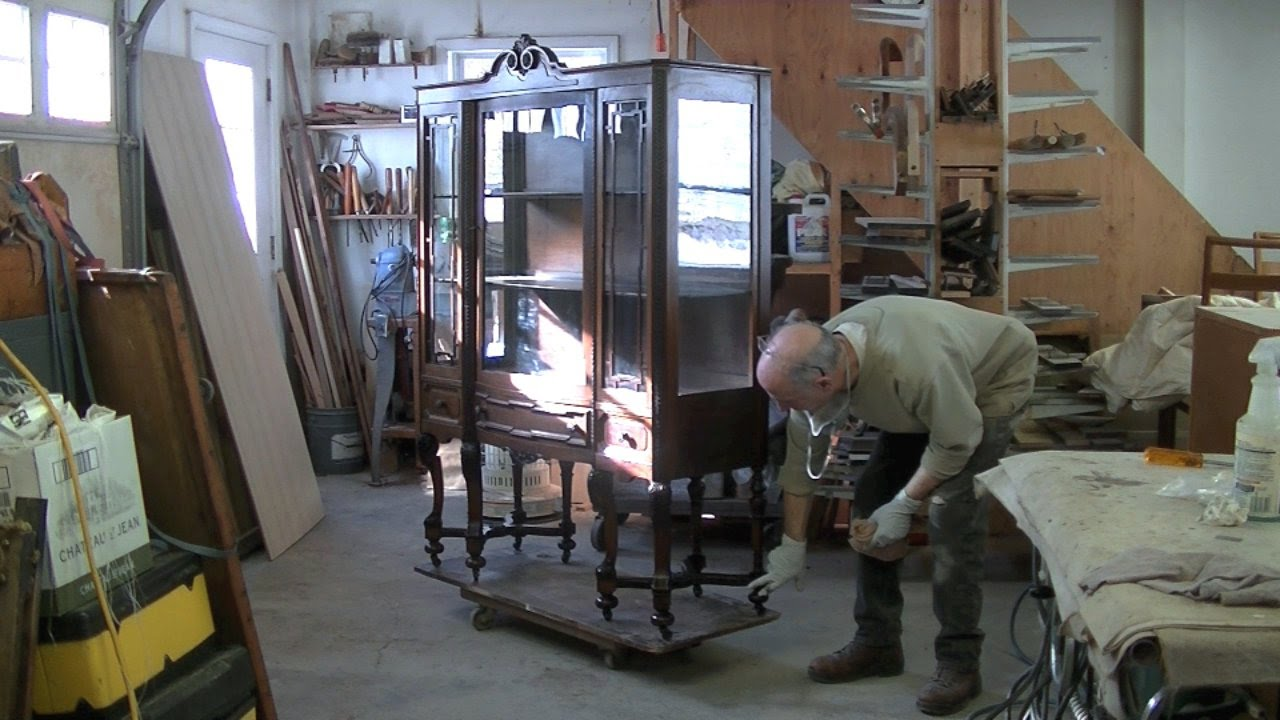 Repairing a china cabinet 39 s broken leg assembly thomas for Chinese furniture restoration
