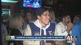 SungWoo Lee watching World Series from Kansas City