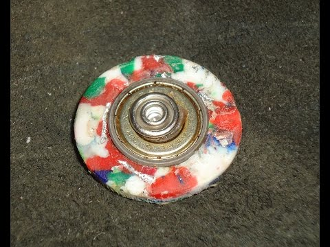 recycled plastic spinner fidget toy