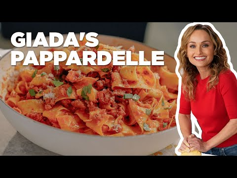 Giada's Pappardelle Pasta with Sausage Ragu | Food Network