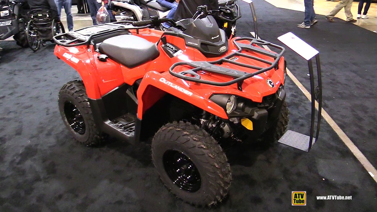 2017 can am outlander 450 recreational atv walkaround. Black Bedroom Furniture Sets. Home Design Ideas