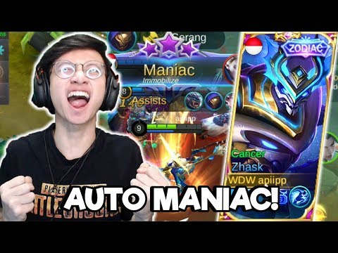 AUTO MANIAC PAKE SKIN ZODIAK ZHASK ! - MOBILE LEGENDS INDONESIA