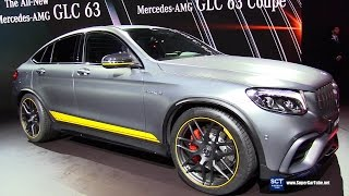 2018 Mercedes AMG GLC 63 S Coupe - Exterior and Interior Walkaround - Debut 2017 New York Auto Sho