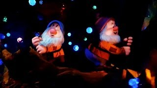 Complete Seven Dwarfs Mine Train POV front and back ride-through at Disney