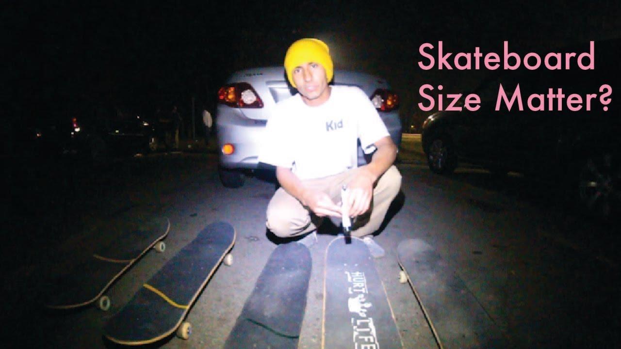 Does Skateboard Size Matter?? - YouTube
