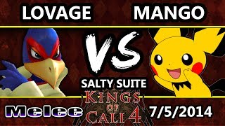 KoC 4 - C9 Mango (Pichu) Vs. Lovage (Falco) SSBM Salty Suite Money Match - Melee