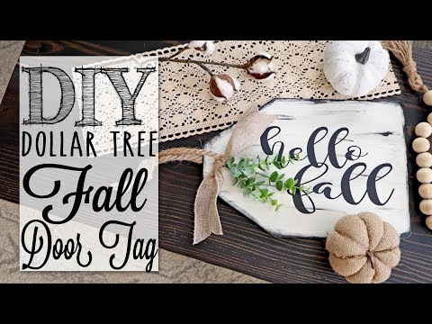 DIY Dollar Tree Fall Farmhouse Door Decor