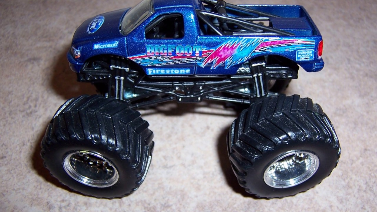 Custom Hot Wheels Decals >> Monster Jam Custom Monster Truck 1 64 Bigfoot Different types Must see! - YouTube