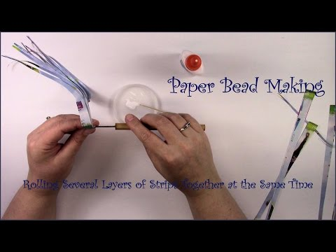 Paper Bead Making, Rolling Several Layers at the Same Time