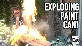 Exploding Paint Can - Dust Explosion Demonstration
