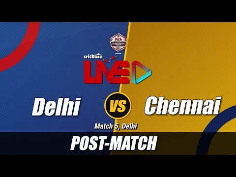 Cricbuzz LIVE: Match 5, Delhi v Chennai, Post-match show