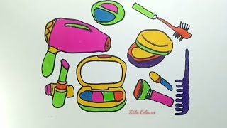 Makeup set full of colours for kids, nursery rhyme music for children / babies 😊