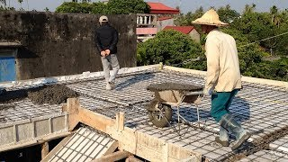 House construction - Roof Construction With Concrete Plant - Excellent Roof Construction Techniques