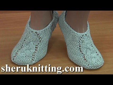 Knit Cable Socks Tutorial 200