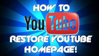 How to get the OLD YouTube layout back | Get back old channel layout and homepage YouTube