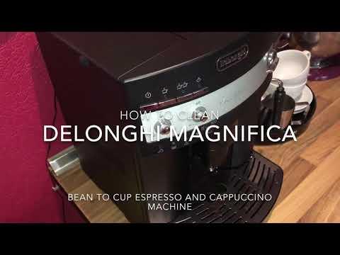 How to clean the coffee maker Delonghi super-automatic espresso coffee machine ESAM 3000 Magnifica