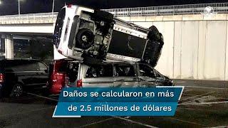 Empleado de Mercedes-Benz es despedido y como venganza destruye 50 camionetas