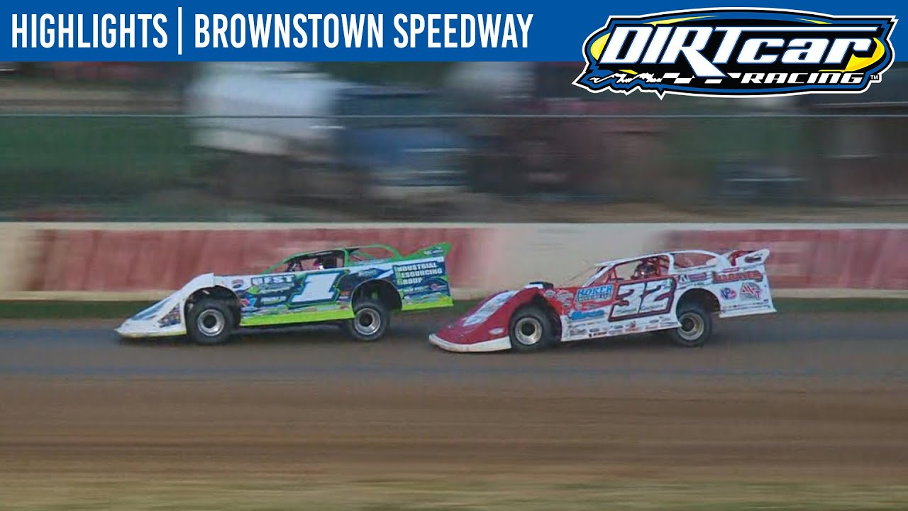 DIRTcar Summer Nationals Late Models Brownstown Speedway July 8, 2020 | HIGHLIGHTS