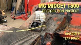 MG Midget 1500 Restoration - Tear down