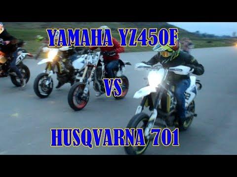 YAMAHA YZ450F VS HUSQVARNA 701 X3 VS KTM 530 EXC (SUPERMOTO) drz 400 vs  dr650