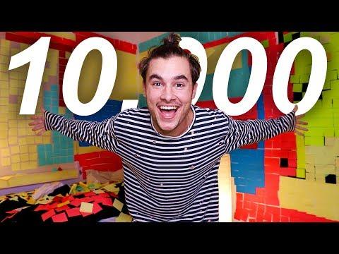 10,000 POST-IT NOTES PRANK