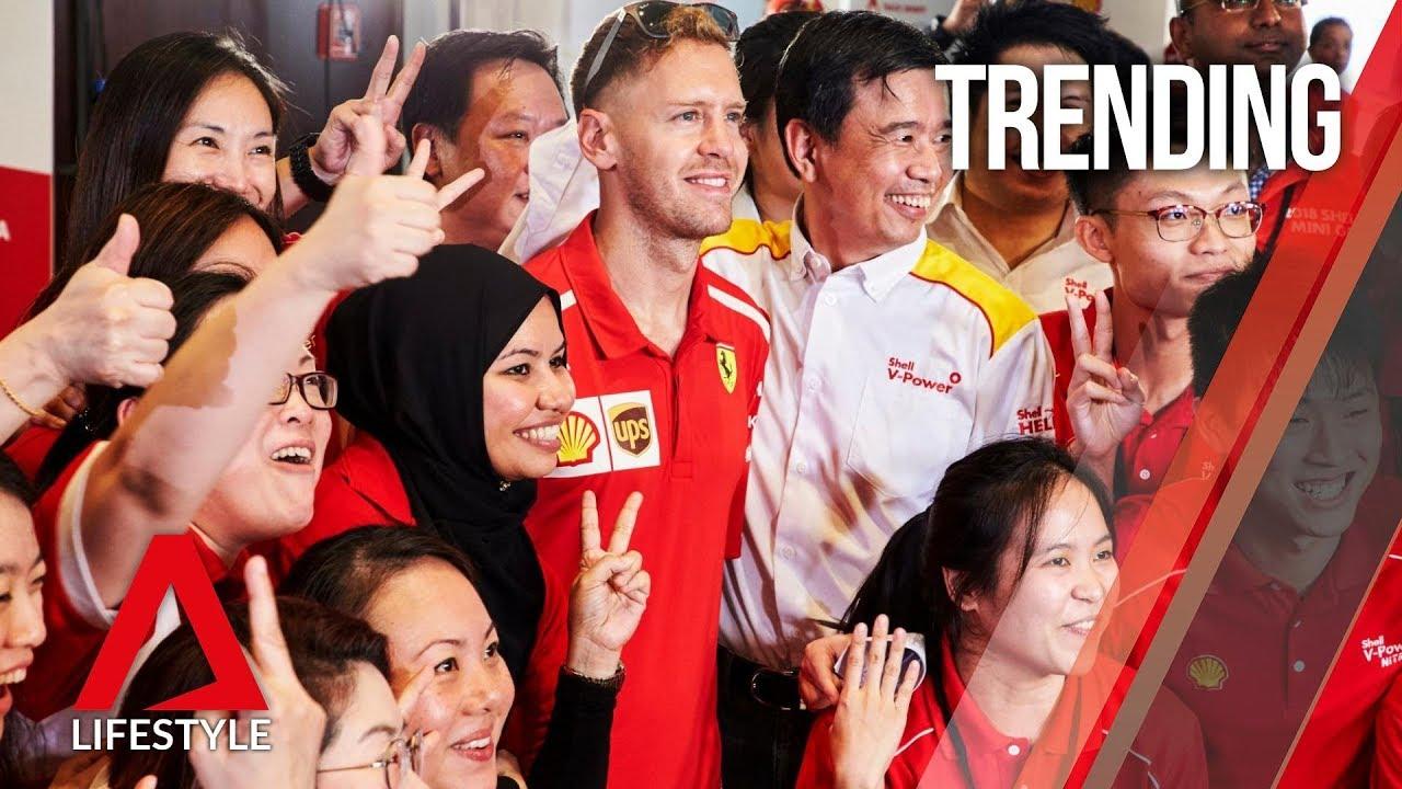Formula 1 superstar Sebastian Vettel meets his Singapore fans | CNA Lifestyle