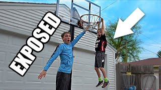 7 Year Old EXPOSES Older Brother in 1v1 Basketball | Colin Amazing
