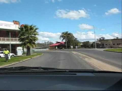 Driving through Darlington Point NSW