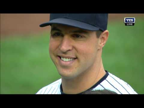 Mark Teixeira retirement ceremony at Yankee Stadium