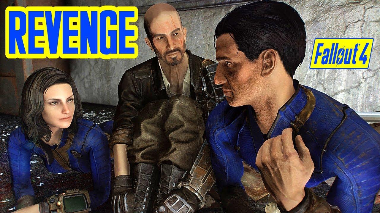 Fallout 4 - NATE & NORA KILL KELLOGG TOGETHER - Revenge w/ Nora Companion  WIP Mod for Xbox & PC