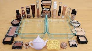 Tea vs Biscuit - Mixing Makeup Eyeshadow Into Slime Special Series 171 Satisfying Slime Video