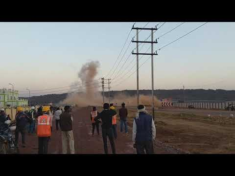Explosion at 750 MW Rewa Ultra Mega Solar Power Plant.