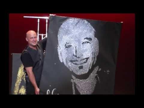 """America's Got Talent"" Speed Painter Robert Channing Paints Howie Mandel"