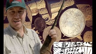 Metal Detecting a Wild West Stage Stop. Finding Guns and BIG Silver coins!