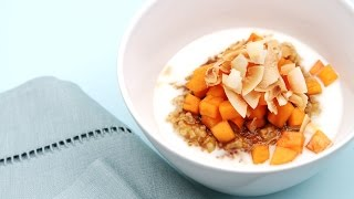 Coconut Oatmeal With Persimmons