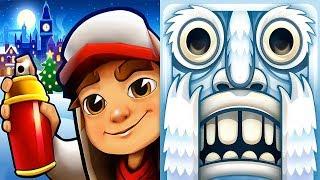 Subway Surfers London VS Temple Run 2 - Frozen Festival  - Christmas 2018 Gameplay HD