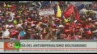 Manifestación en Caracas a favor del presidente Nicolás Maduro