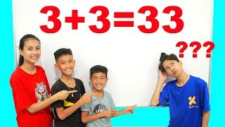 KuMin Kids Go To School Learn Math and Do Test Calculations | Classroom Funny Nursery Rhymes