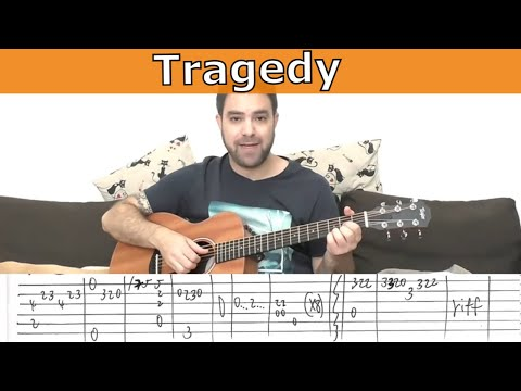 Fingerstyle Tutorial: Tragedy (Bee Gees) - Full Instrumental - Guitar Lesson w/ TAB
