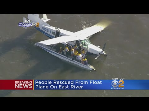 Chopper 2 Over East River Seaplane Rescue
