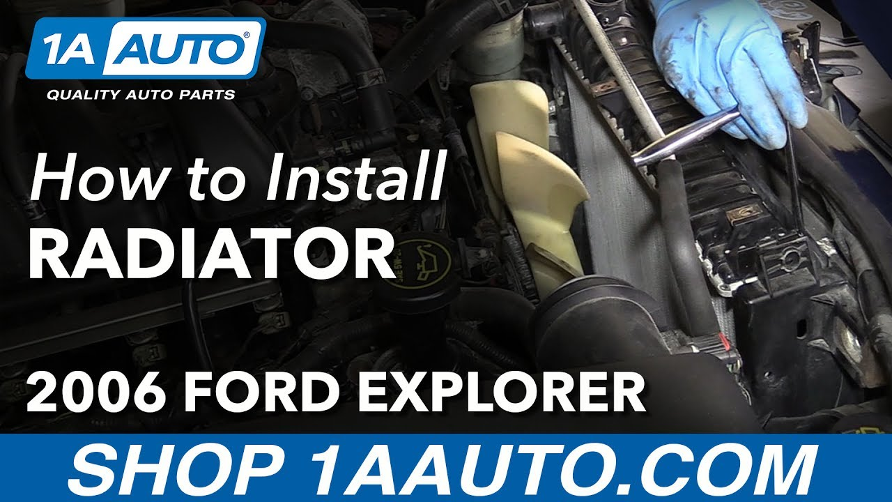 hight resolution of how to replace radiator 06 10 ford explorer