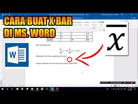 This video will show you how to type X BAR in word..