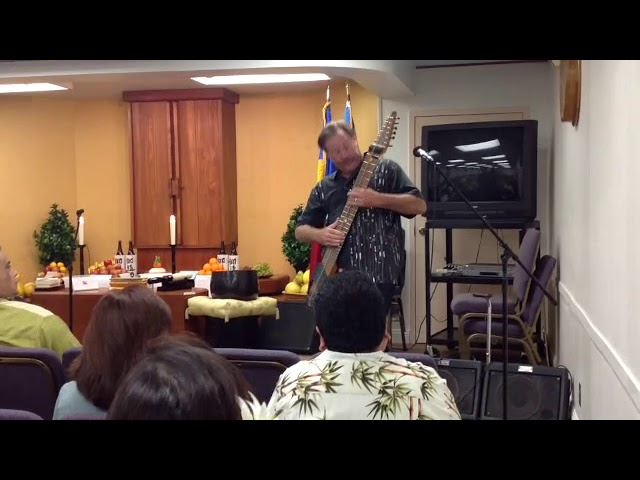 Solo Chapman Stick performance on New Year's Day 2009 in Wailuku, Maui