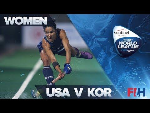USA v Korea Match Highlights - Sentinel Homes Hockey World League Final   Auckland, New Zealand