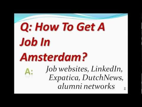 How To Get A Job In Amsterdam?