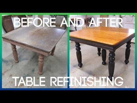 Oak Dining Room Table | Furniture Refinishing Restoration Repair | 10.7.19