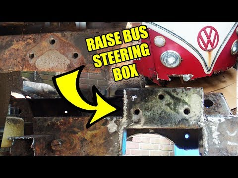 Howto Raise VW Bus Steering Box - 1967 VW Bus - Gregory - 9