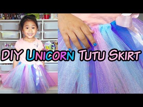 6a93f6a1c5 DIY No-Sew Tutu Skirt | DIY Unicorn Tutu Skirt | DIY Tulle Skirt Tutorial -  YouTube