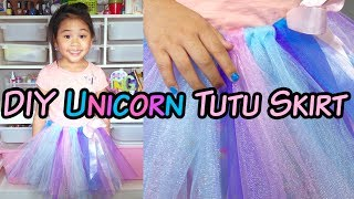Gambar cover DIY No-Sew Tutu Skirt | DIY Unicorn Tutu Skirt | DIY Tulle Skirt Tutorial